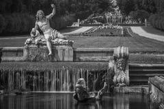 皇家caserta的宫殿 免版税图库摄影