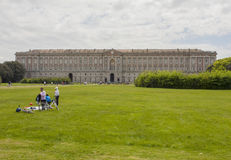 皇家caserta的宫殿 库存照片