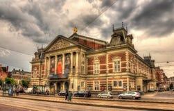 皇家Concertgebouw,一个音乐厅在阿姆斯特丹 库存图片