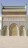 皇家fes的宫殿 免版税库存照片
