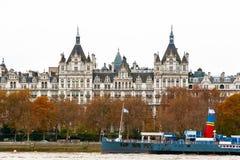 皇家Horseguards旅馆的外部在伦敦 免版税库存照片