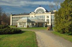 皇家lazienki的公园 免版税库存图片