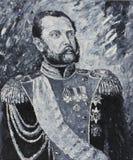 皇帝亚历山大2,画象,油画 免版税图库摄影