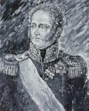 皇帝亚历山大1,画象,油画 免版税图库摄影