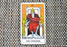 皇帝占卜用的纸牌力量领导人统治者国王Boss 免版税图库摄影