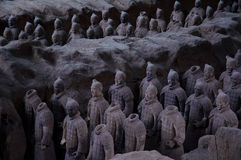皇帝和他的战士 免版税库存照片