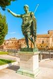 皇帝奥古斯都雕象在罗马 免版税库存图片