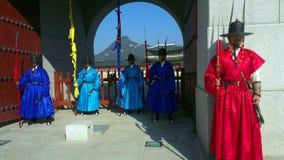 皇帝守卫宫殿汉城 30更改的卫兵7月韩国国王好朋友s汉城南部 库存图片