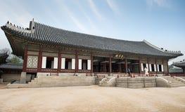 皇帝宫殿汉城 30更改的卫兵7月韩国国王好朋友s汉城南部 免版税库存图片