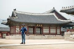 皇帝宫殿汉城 30更改的卫兵7月韩国国王好朋友s汉城南部 免版税库存照片