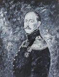 皇帝尼可拉1,画象,油画 免版税库存照片