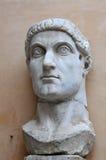 皇帝康斯坦丁雕象头  免版税图库摄影