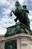 皇帝弗朗兹我约瑟夫雕象 免版税图库摄影