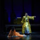 皇帝是愤怒幻灭现代戏曲女皇在宫殿 免版税库存图片