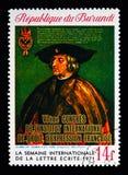 皇帝马克西门科我,国际信件文字星期serie, c 库存照片