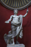 皇帝Claudius雕象梵蒂冈罗马 免版税库存照片