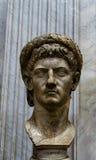 皇帝Claudius头雕象 免版税库存照片