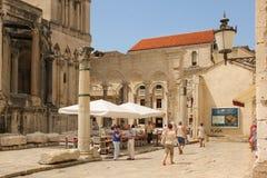 皇帝Diocletian的宫殿 已分解 克罗地亚 免版税图库摄影