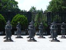 皇帝Khai Dinh,颜色,越南坟茔  免版税库存图片
