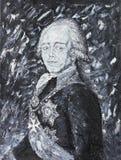 皇帝Pavel 1,画象,油画 免版税库存照片
