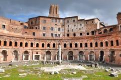 皇帝Trajan罗马皇家论坛在罗马,意大利 免版税库存照片