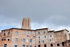 皇帝Trajan罗马皇家论坛在罗马,意大利 库存照片