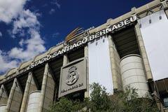 皇马, Estadio圣地亚哥Bernabeu,现代大厦,马德里,西班牙 免版税图库摄影