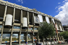 皇马, Estadio圣地亚哥Bernabeu,现代大厦,马德里,西班牙 图库摄影