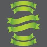 绿皮书丝带有在灰色背景 免版税库存照片