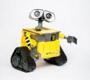 从皮克斯和迪斯尼电影的机器人墙壁E 免版税库存照片