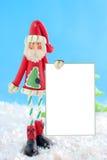 皮包骨头空白圣诞老人的符号 免版税库存图片