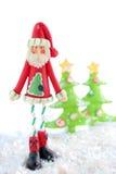 皮包骨头的圣诞老人 免版税库存照片