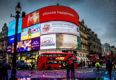 皮卡迪利广场伦敦,英国英国 库存照片