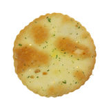 皮塔饼切削唯一的蒜细香葱 免版税库存照片