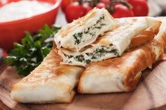 皮塔饼zeljanica,土耳其borek巴尔干版本  免版税库存图片