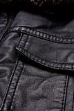 黑皮夹克细节 库存照片