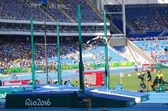 皮契茄属Murer, Rio2016的巴西撑竿跳选手 库存图片