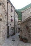 皮奥比科(3月),历史的村庄 免版税图库摄影