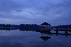 皮尔斯水库,新加坡-黎明场面 库存图片