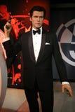 皮尔斯・布鲁斯南作为代理007詹姆斯庞德蜡雕象 免版税库存照片