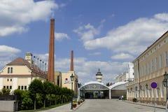 皮尔逊Urquell啤酒厂 库存图片