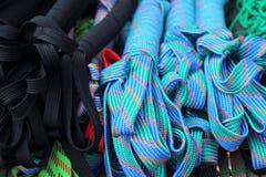 绳索皮带几种颜色待售 库存照片