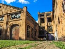 皮拉西卡巴中央糖厂 免版税库存图片