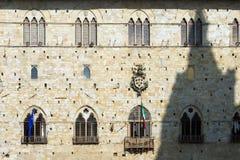 皮斯托亚托斯卡纳意大利城镇厅  免版税库存图片