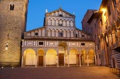 皮斯托亚老大教堂教会纪念碑 库存照片