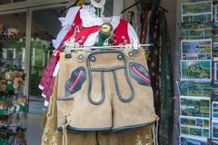皮短裤和少女装 库存图片