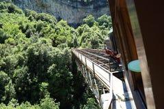 皮立翁山希腊一点火车  免版税图库摄影