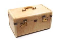 皮箱棕褐色的葡萄酒 库存照片