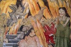 皮耶特拉桑塔, Botero ` s壁画 库存图片