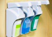 皮肤清洁和消毒作用的设备 免版税库存图片